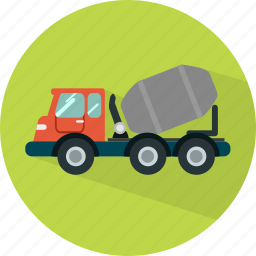 cement, delivery, shipping, transport, transportation, truck, vehicle icon