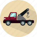auto, automobile, car, crane, transport, transportation, vehicle icon