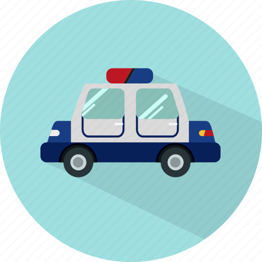 auto, automobile, car, police, transport, transportation, vehicle icon
