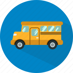 bus, education, learning, school, student, study, transport icon