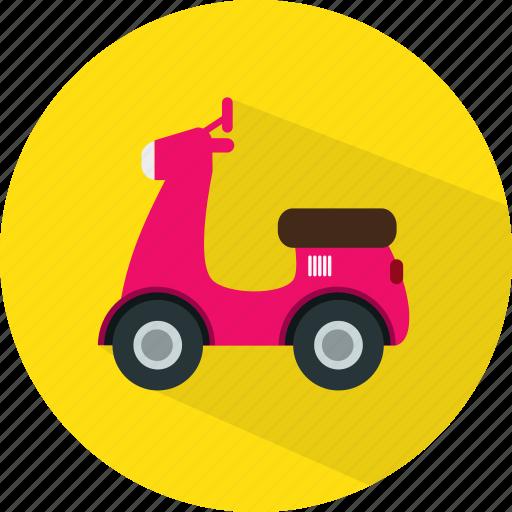 bike, motorbike, motorcycle, scooter, transport icon