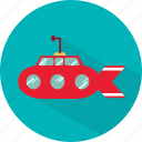 boat, sea, ship, submarine, transport, underwater icon