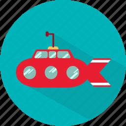boat, sea, ship, submarine, transport, underwater icon