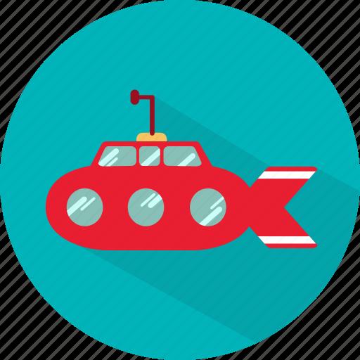 Boat, sea, ship, submarine, transport, underwater icon - Download on Iconfinder