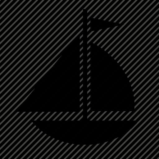 bhip, boat, sailboat, sailing, transport, transportation, travel icon
