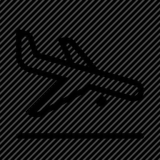 airplane, arrival, flight, landing, plane, transport, travel icon