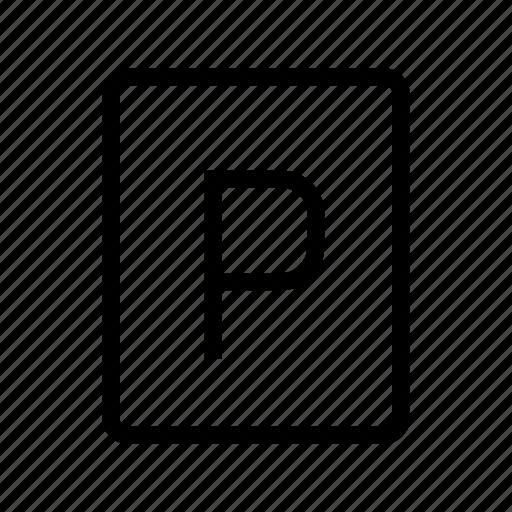 car park, parking, parking area, parking lot, parking place, parking space icon