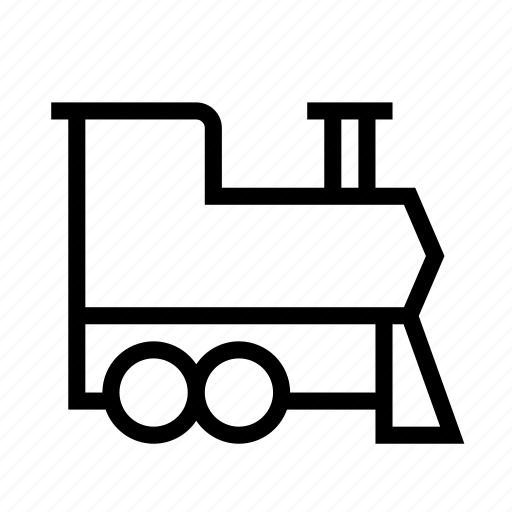 engine, locomotive, railroad, railway, steam, train, transport icon
