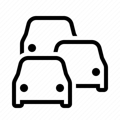 car, cars, jam, road, traffic, transport icon