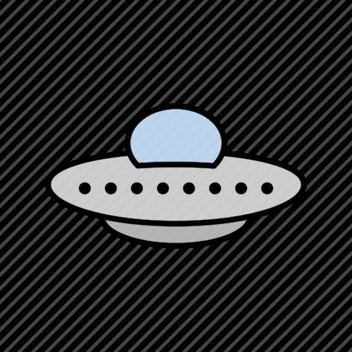 space, spaceship, ufo icon