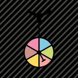 circus, cycle, unicycle icon