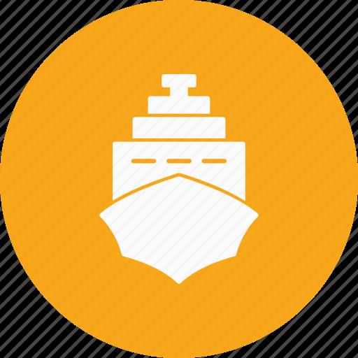 cruise, ship, transport icon