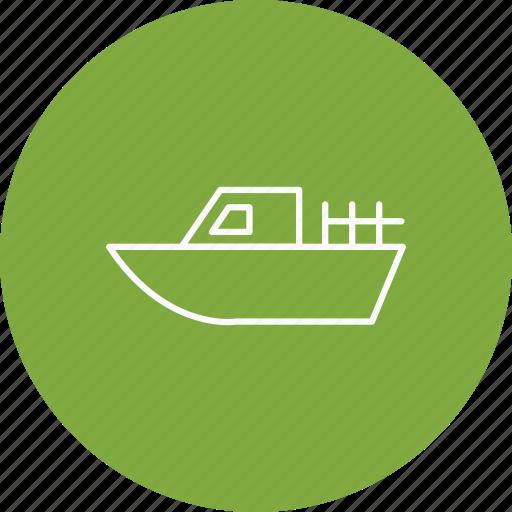 boat, cruise, travel icon