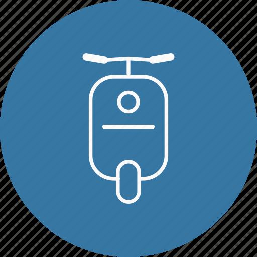 transport, vehicle, vespa icon
