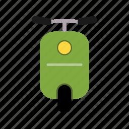 motorcycle, transport, vespa icon