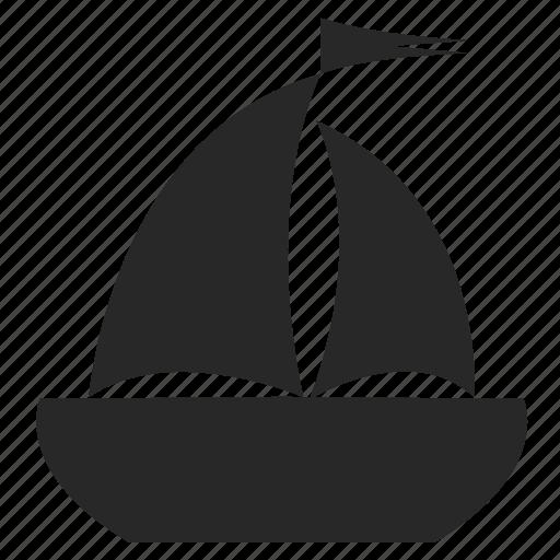 boat, pleasure boat, sea, ship, transport, yacht icon