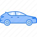 car, hatchback, machine, movement, transport, transportation icon