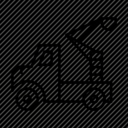 automobile, cargo, construction, lifter, logistics, truck, vehicle icon