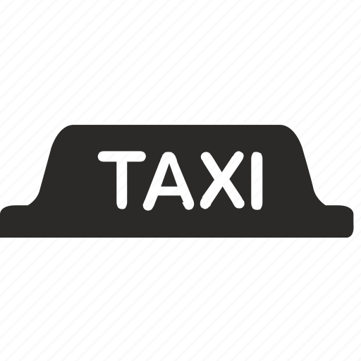 car, sign, taxi, transport, walk icon
