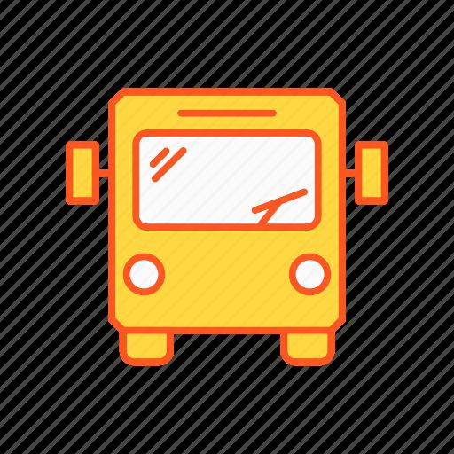 bus, transport, transportation, travel icon