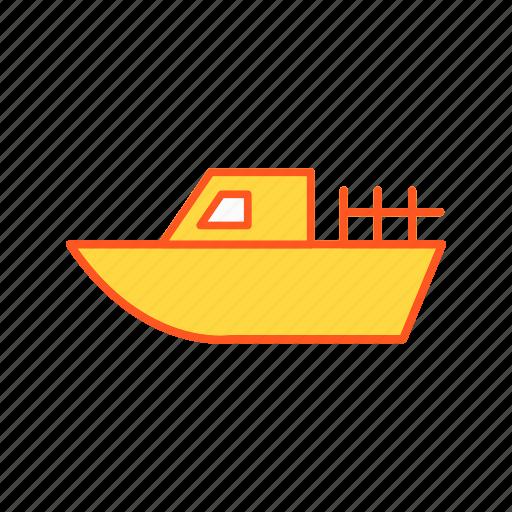 boat, cruise, sea, travel icon
