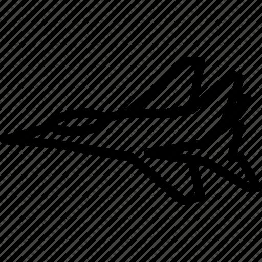 jet, outline, plane, transport icon