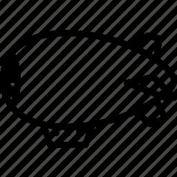 blimp, outline, transport icon