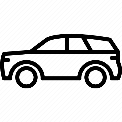 outline, suv, transport icon