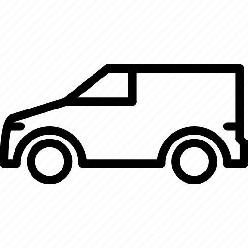 outline, small, transport, van icon
