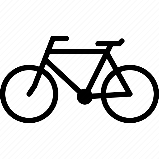 bicycle, outline, transport icon