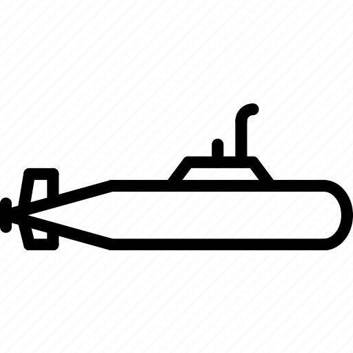 outline, submarine, transport icon