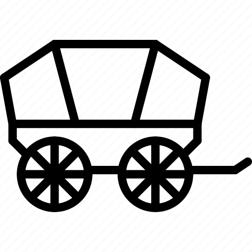 outline, transport, wagon icon