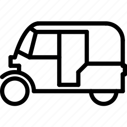 outline, transport, tuk icon