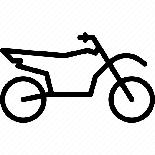 motorbike, off, outline, road, transport icon