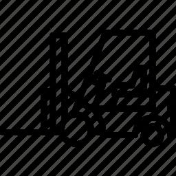 forklift, outline, transport icon