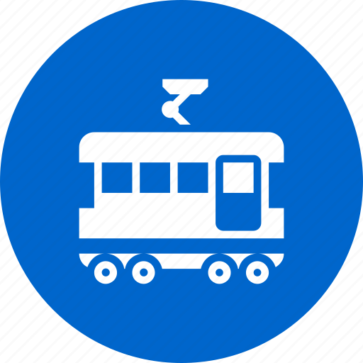 sign, tram, tramway, trolley icon
