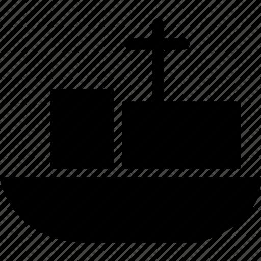 barge, boat, merchant ship, sailboat, ship, vessel, watercraft icon