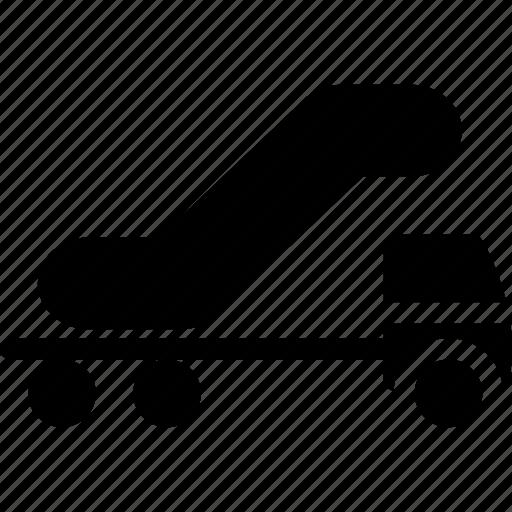 container, escalator, escalator shipping, heavy truck, large truck, shipping, shipping truck icon