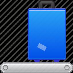 bag, baggage, luggage, registration, suitcase, transport, transportation icon