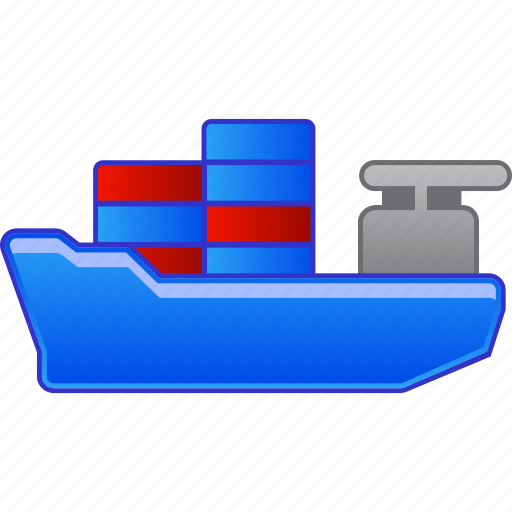 cargo, delivery, ship, shipping, transport, transportation, vehicle icon