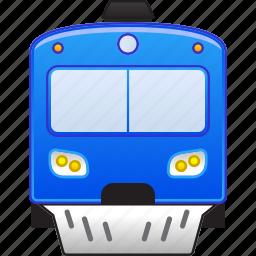 locomotive, railroad, railway, subway, train, transport, vehicle icon