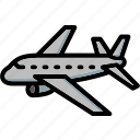 aeroplane, colour, transport, ultra icon