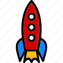 colour, rocket, transport, ultra icon