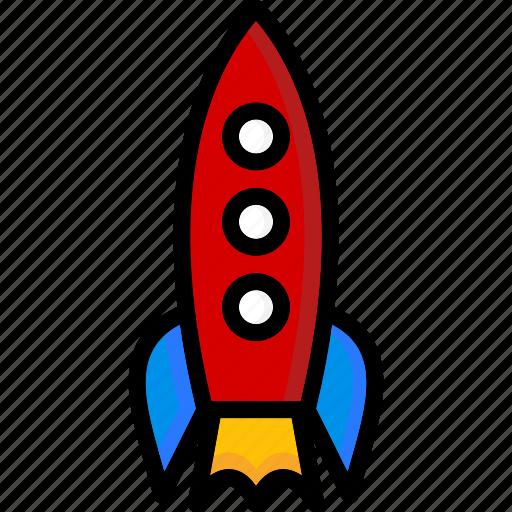 colour, rocket, transport, ultra icon