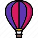 air, balloon, colour, hot, transport, ultra icon