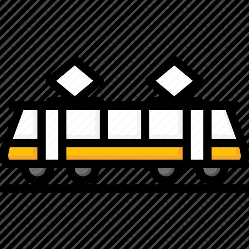 colour, tram, transport, ultra icon