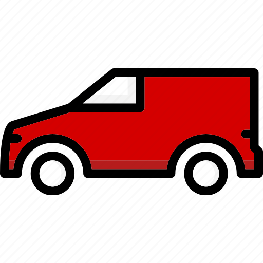 colour, small, transport, ultra, van icon