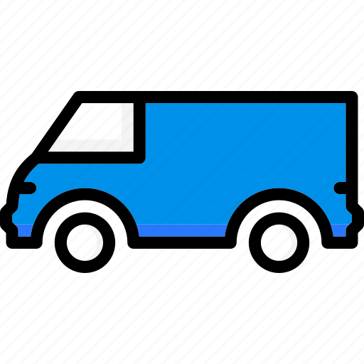 colour, long, transport, ultra, van icon