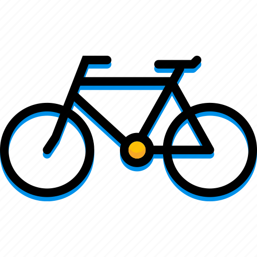 bicycle, colour, transport, ultra icon