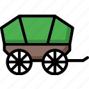 colour, transport, ultra, wagon icon
